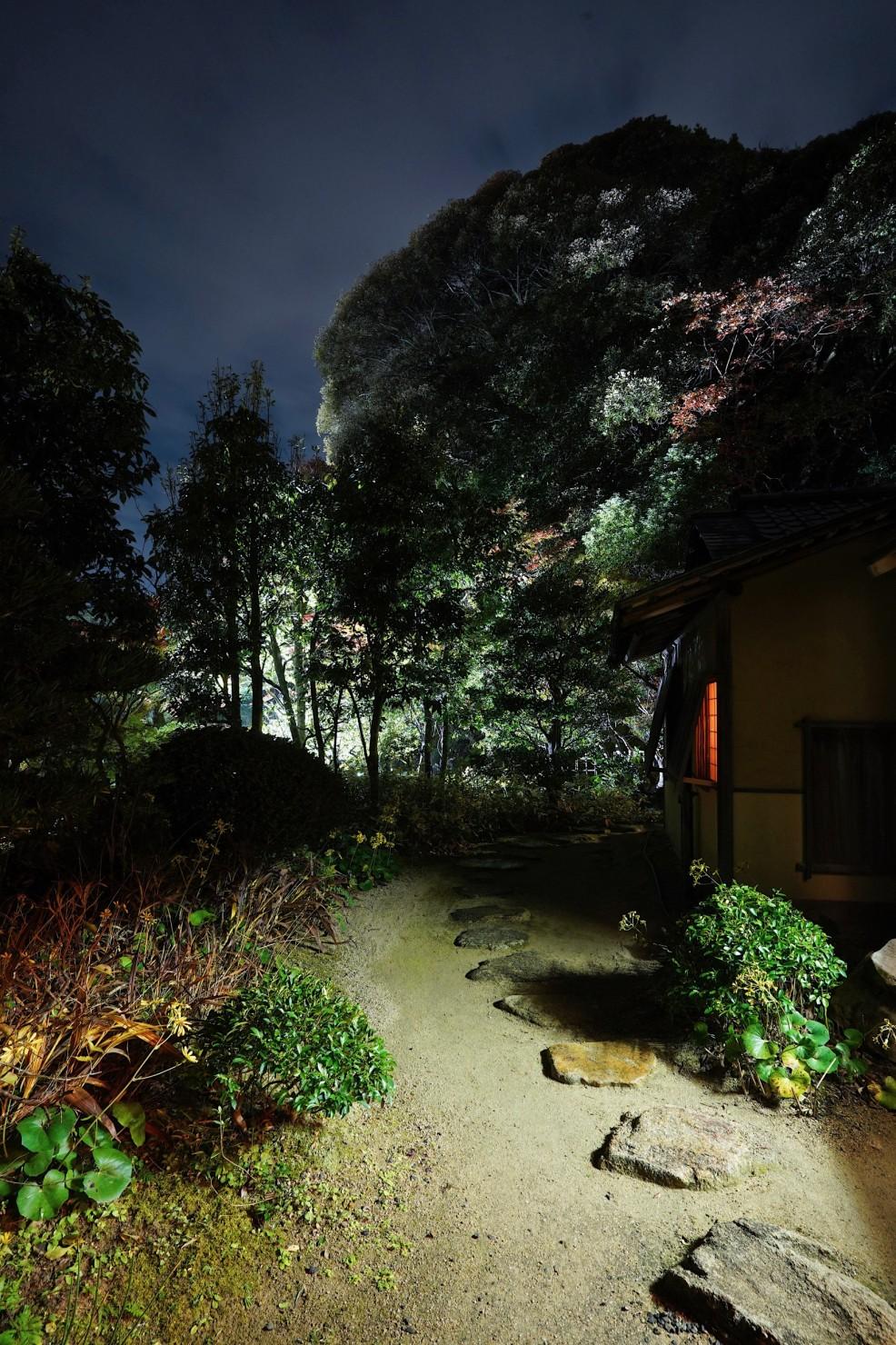 長府庭園の茶室