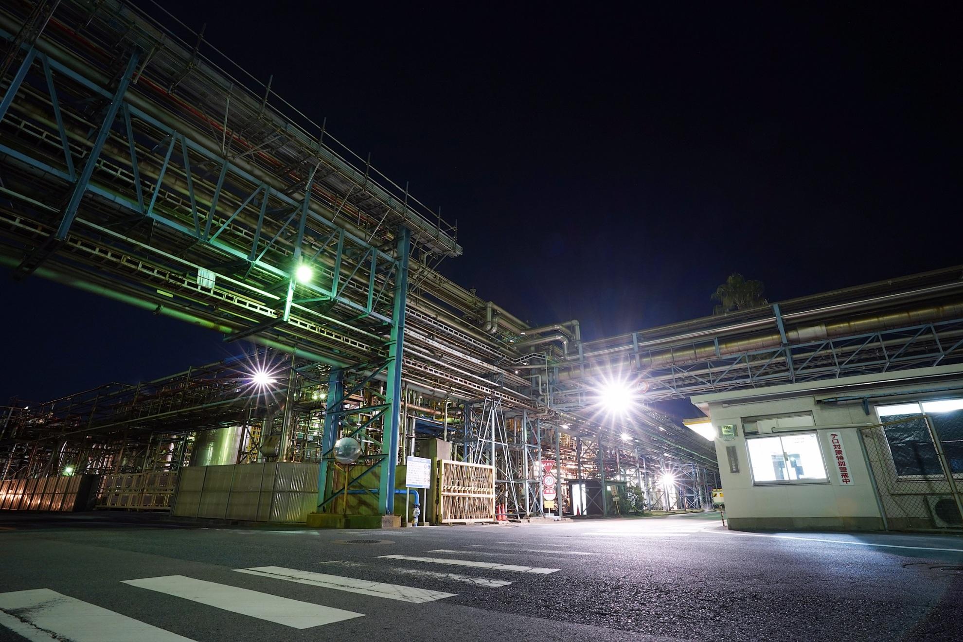 宇部工場夜景