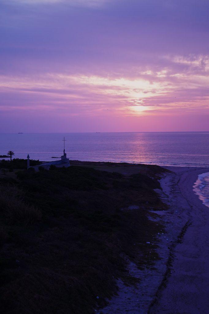 角島大橋展望台からの夕景