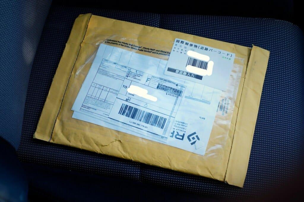 RRSからの国際郵便